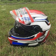 Защитные двойные очки, Полнолицевые Шлемы, мотоциклетный шлем с внутренним солнцезащитным козырьком, гоночный шлем
