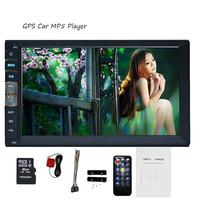 Auto GPS-navigation Mp5 + free karte karte linux system Auto Autoradio Doppel 2 Din In Dash Steuergerät Auto Stereo LCD Monitor