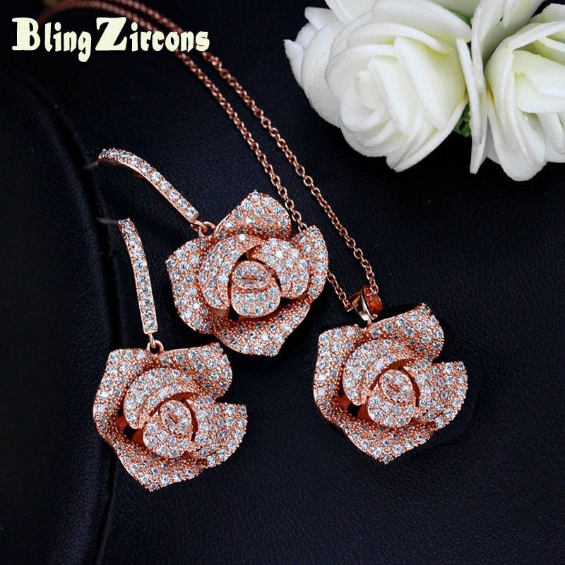 4 Pieces//Set Alloy Jewelry Set for Women Crystal KC Gold Plated Chunky EV