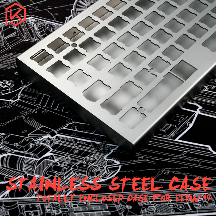 stainless steel bent case for xd84 eepw84 75 custom keyboard enclosed case upper and lower case