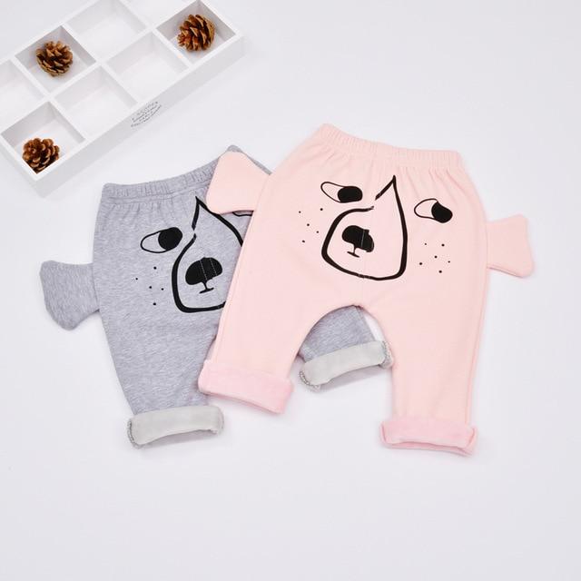 3d Cartton Newborn Infant Baby Boys Girls Clothing Set Baby Legging Pants Boys Trousers  Newborn Prop Free Shipping
