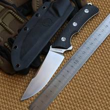 LW Seeker 2 VG-10 blade carbon fiber handle fixed blade hunting knife KYDEX Sheath camping survival outdoors EDC knives tools