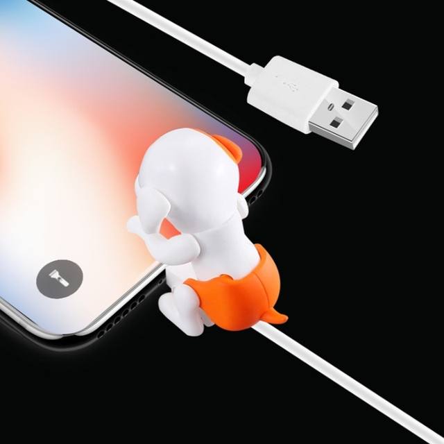 Rascal Dog Usb Charge Cable Fast Charger Charging Cable Mini Humping Cute Dog Charging Line for Andriod iphone Ios Device Cables