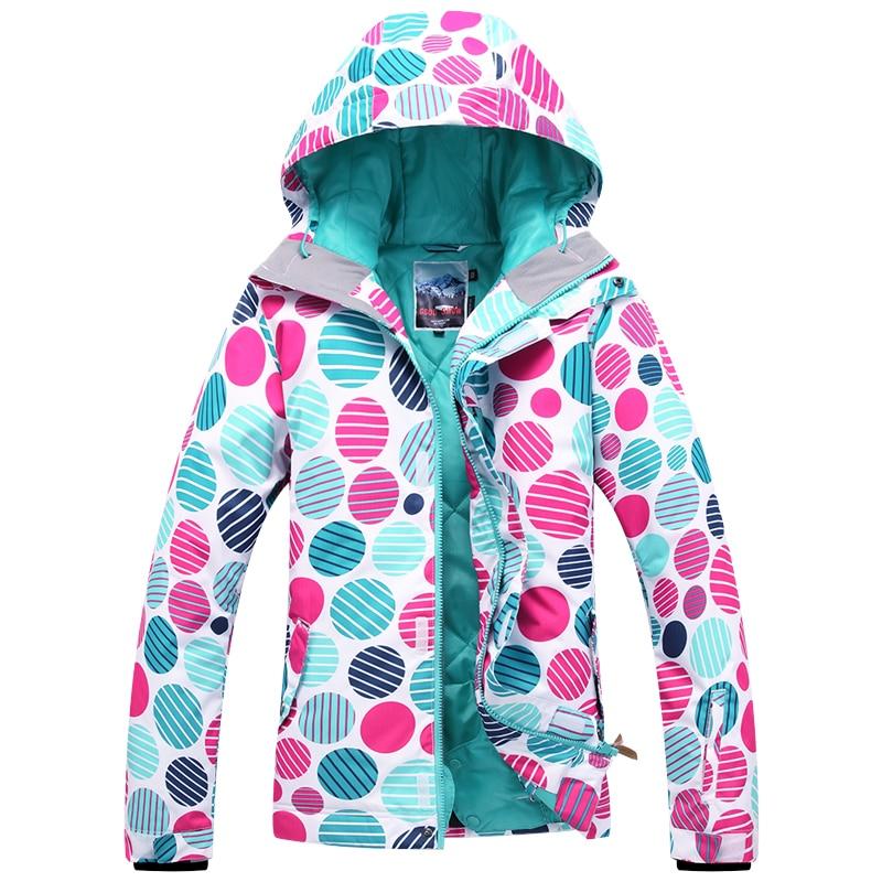 Prix pour Offre spéciale! Gsou SNOW femmes de ski veste de Snowboard vêtements de ski sports de Plein Air de neige vêtements de vêtements chauds et imperméables respirant
