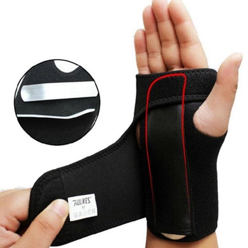 1Pcs Adjustable Wristband Steel Wrist Brace Support Arthritis Sprain Carpal Tunnel Splint Wrap