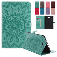Tab A 10 1 SM T585 Cases Cover Embossed Floral Folio PU Leather Case For Samsung