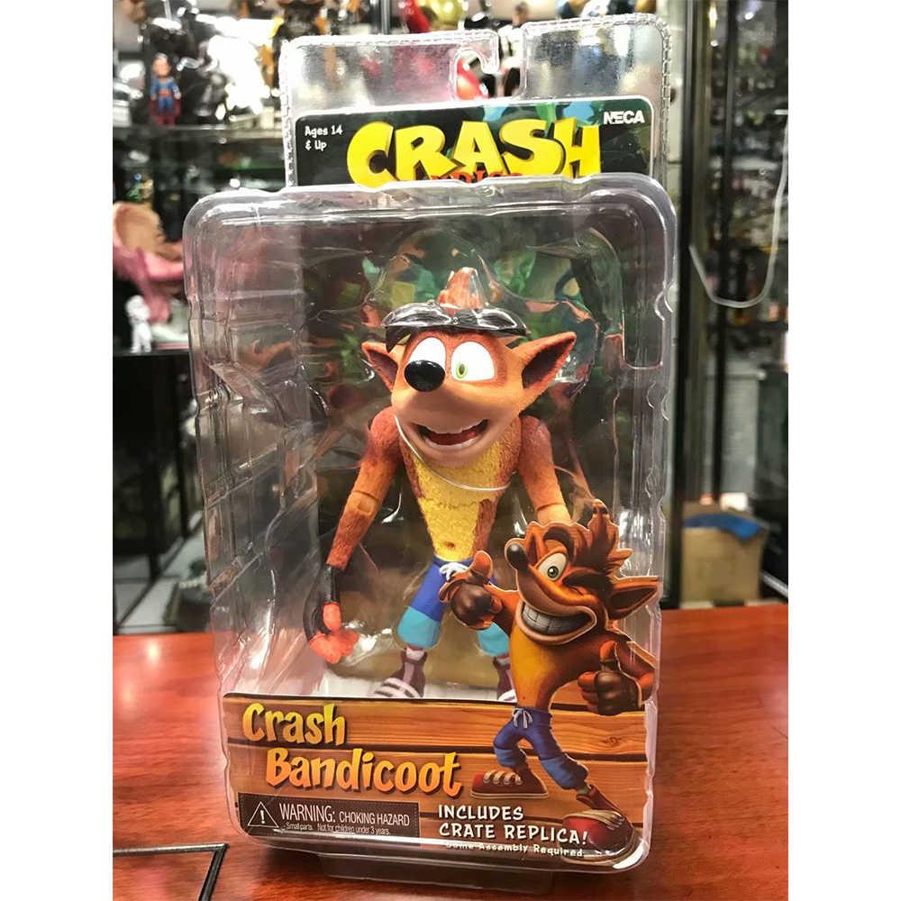 Crash Bandicoot Christmas.Neca Anime Game Crash Bandicoot Pvc Action Figure