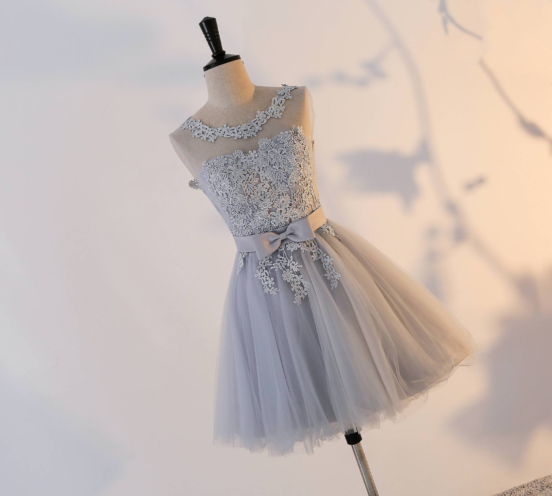 Sem Encosto Regresso A Casa Curto Vestidos Com Arco vestidos de festa