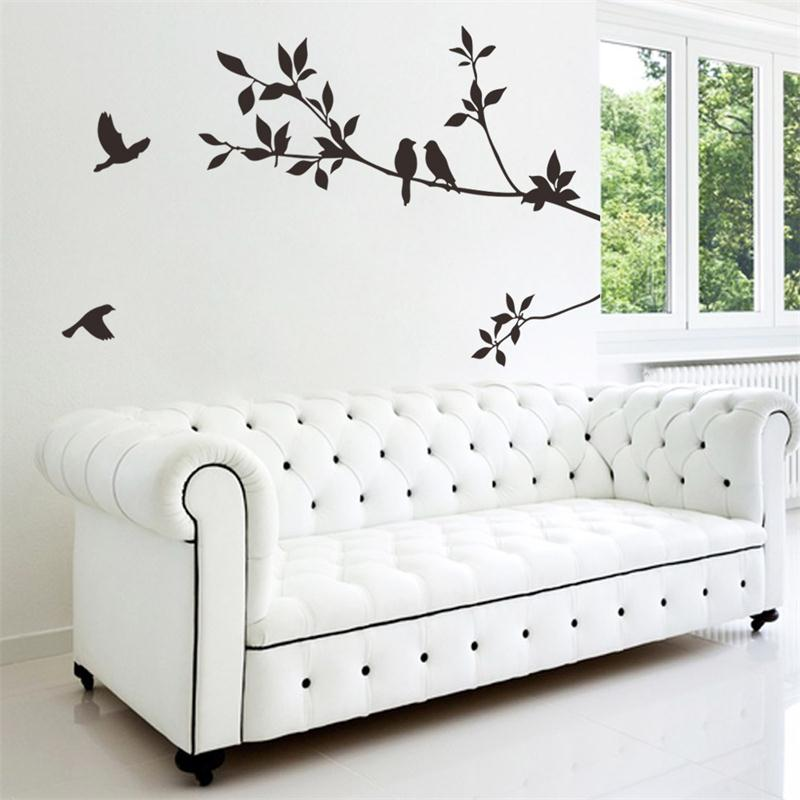 Aliexpress.com : Buy Flying Black Bird Tree Branch Vinyl Wall Stickers  Bedroom Decoration 8171. Removable Diy Home Decals Animal Mural Art 3.5  From Reliable ...