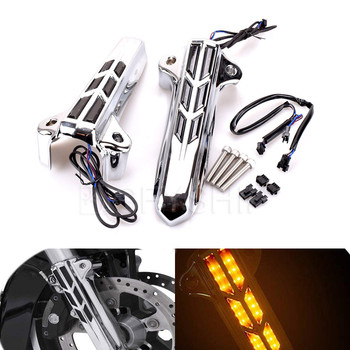 Передняя Нижняя вилка мотоцикла, чехлы для ног, слайдер, светодиодный декоративный свет для Harley Touring Electra Glide FLHTCU 2014 до 2017 2018