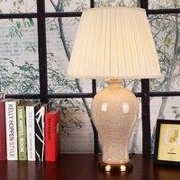Solid Color Glazed Ceramic Vase Base Ceramic Table Lamps With Crackle Craft