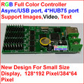 Асинхронный usb полноцветный контроллер, 192*128, 384*64 управления области, 4 hub75, поддержка iamges, видео, текст программы
