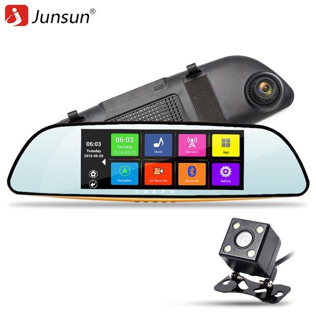"New Junsun 6.86"" Car Rearview Mirror Camera Dual Lens DVR GPS Navigation Recorder Automobile DVR Video Mirror Dash Cam HD 1080P"
