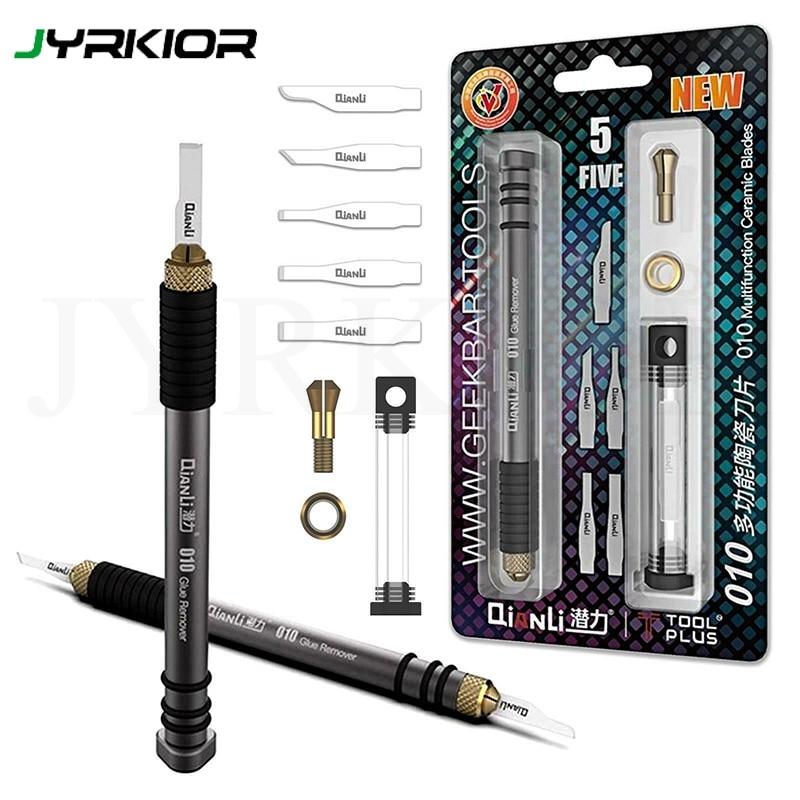 Jyrkior QianLi 010 IScepter BGA Repair Motherboard IC Chip Glue Removing Ceramic Blades For IPhone Logic Board Repair Tool