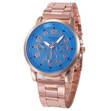 Important Excessive High quality relogio feminino Stainless Metal Sport Quartz Hour Wrist Analog Watch jan22