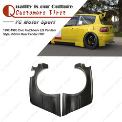 Akcesoria samochodowe FRP włókna szklanego PDM styl + 50mm tylny błotnik nadające się do 1992-1995 Civic Hatchback np. z tyłu ponad nadkole pokrywa