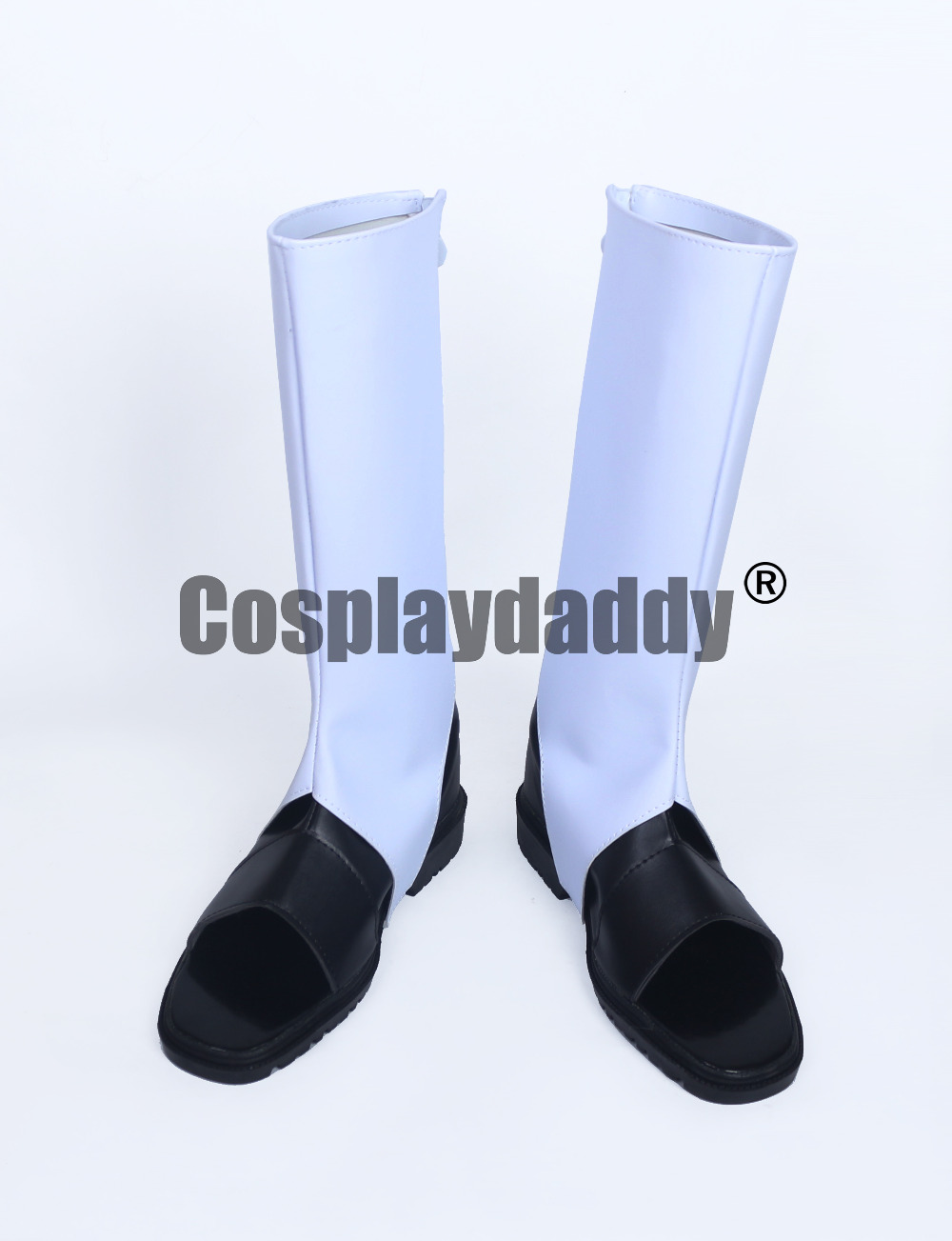 Naruto Uchiha White With Black Long Cosplay Shoes Boots S008