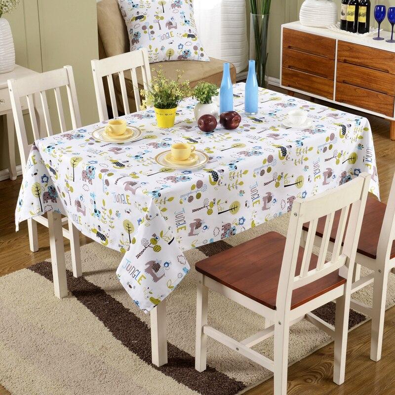 2014 new cute cartoon animals print rectangle tablecloth fashion Cute Dining Table