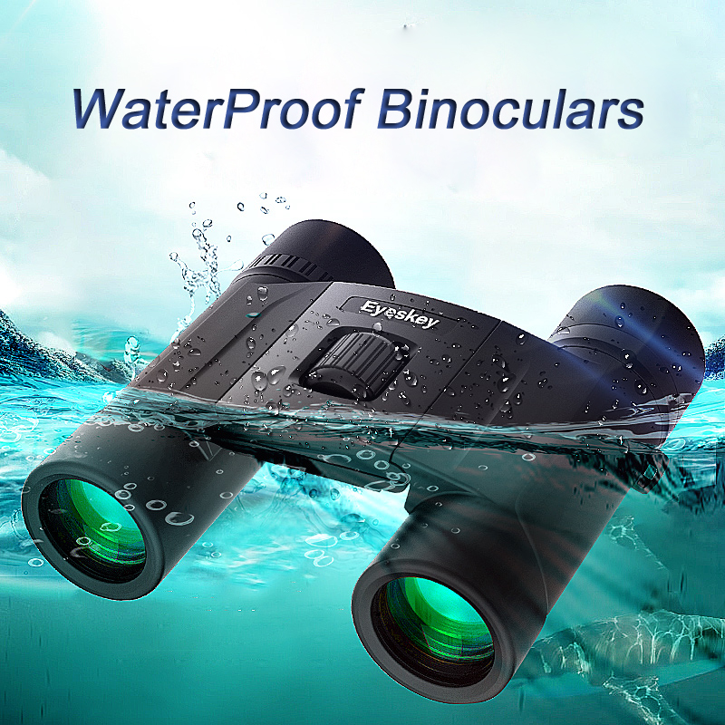 Eyeskey 8/10x25 IPX8 Wateproof Binoculars Outdoor Sports Eyepiece Telescope Binoculars Telescope Wide Angle Hunting Camping 10 pcs car spdt 5 pin 1no 1nc green indicator relay ceramic socket 80a 12v dc