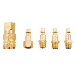 5 pces 1/4 polegadas npt acessórios de mangueira do compressor de ar conector macho & fêmea liberação rápida acoplador plug socket resistência à corrosão