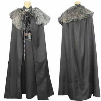 Sansa Stark Costume Halloween Cosplay Outfit Game of Thrones Season 8 Costumes Winterfell Sansa Stark Dress Cloak фото