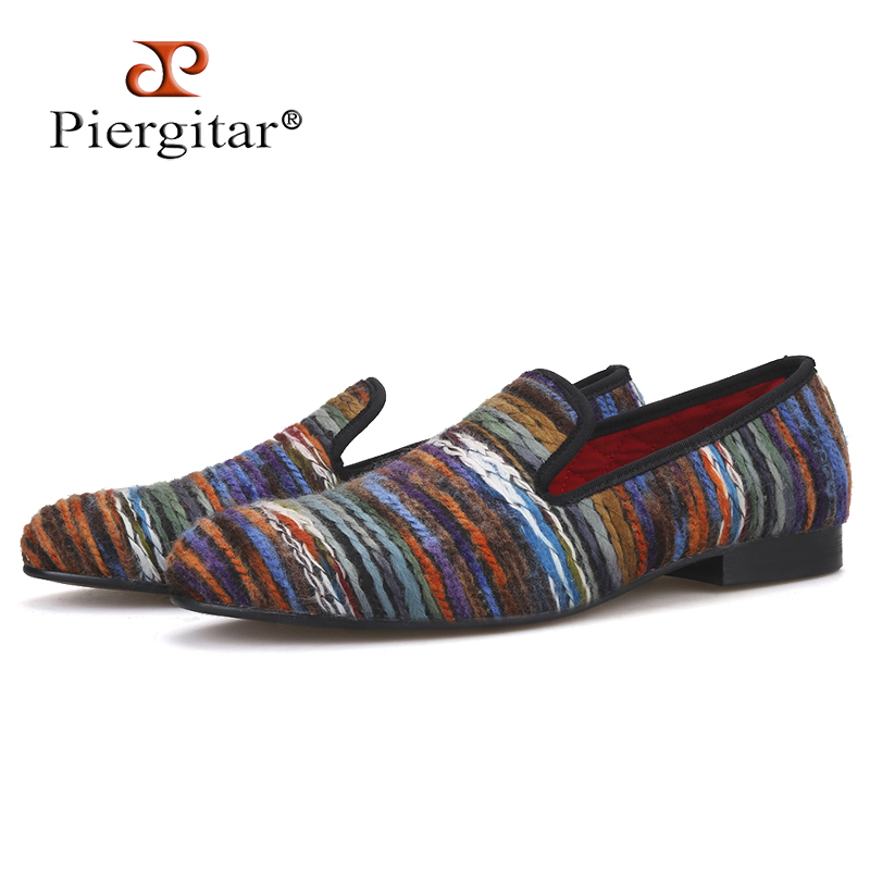Rich color cotton fabric men shoes retro and fashion men loafers British style casual smoking slipper