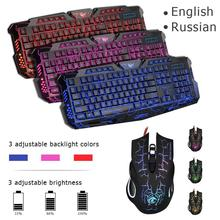 HXSJ J10 USB Wired Backlight Game Keyboard Newst Gaming Keyboard and Mouse Set professiona Gaming Keyboard Adjustable Mouse hot backlight game keyboard and mouse suit wired gaming keyboard and mouse combo 104 kyes gaming keyboard with wired 6d mouse kx04