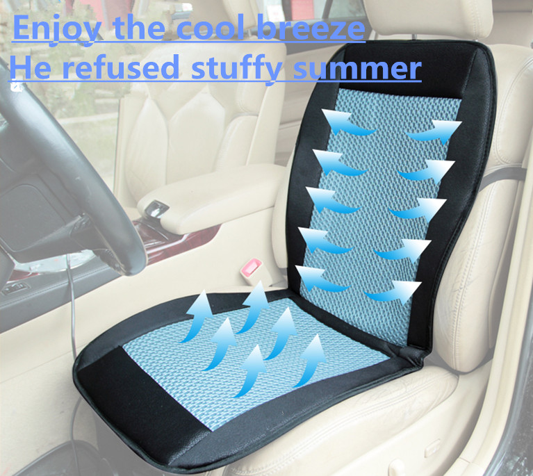 cooling car seat cushion cover 12v air ventilated fan air conditioned cooler pad 4681852457431. Black Bedroom Furniture Sets. Home Design Ideas