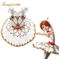 Newest Children Ballerina Tutu Dress Strap Pancake Tutus Child Classical Dancing Dress Girl Halloween Party Performance Costume