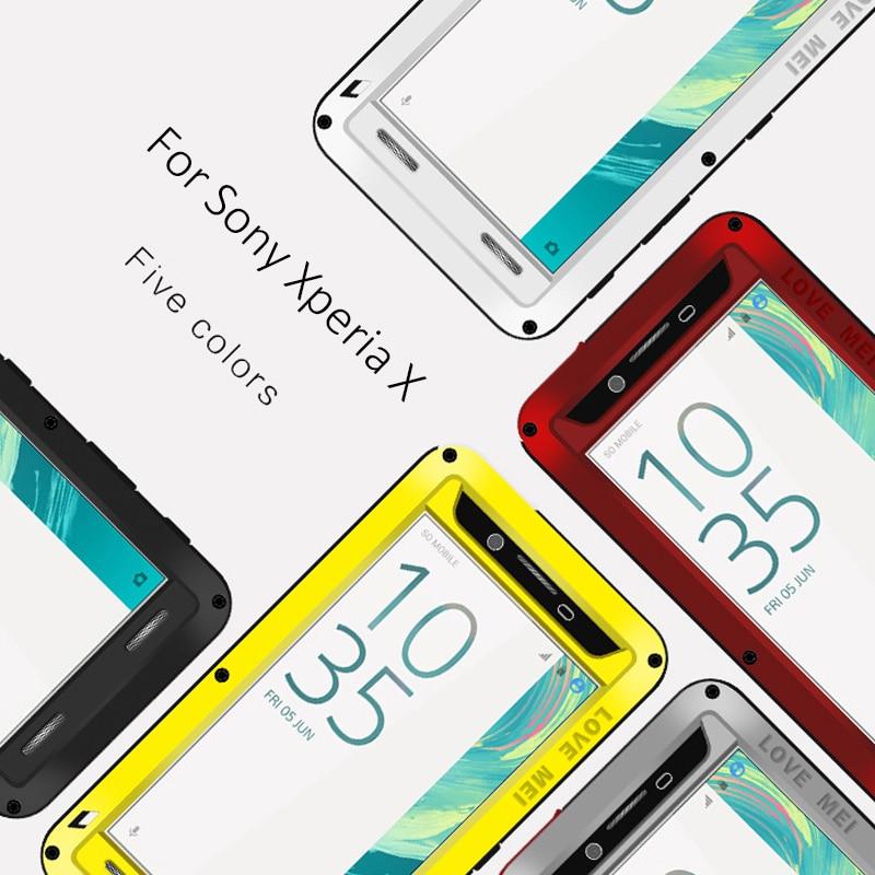 imágenes para Para Sony Xperia X Casos de Rendimiento De Aluminio A Prueba de agua A Prueba de Golpes Caso de la Cubierta Para Sony Xperia X Original Marca de Lujo Del Estuche Rígido