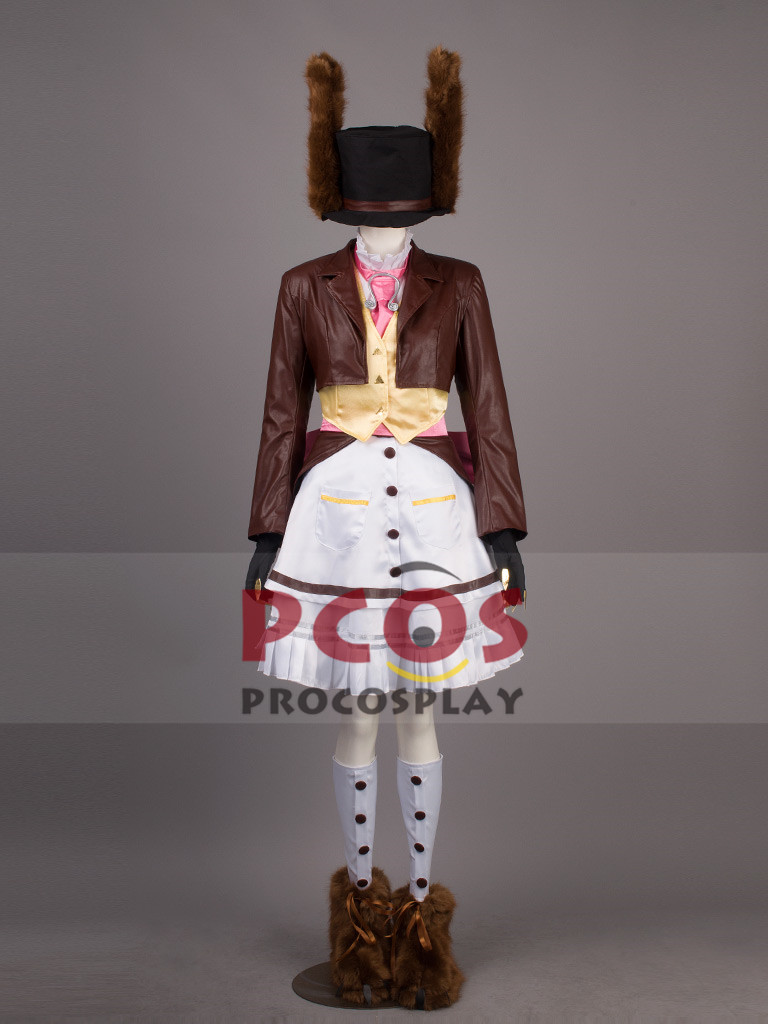 Alice: Madness Returns Late But Lucky Dress Cosplay Costume & Hat & Shoes & pendant mp000381
