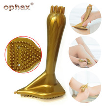 OPHAX Hand-held Magnetic Therapy Meridian Massager Brush Body Muscle Relaxing Massage Comb For Hand Leg Arm Health Care