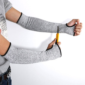 1 Pcs Outdoor Work Safety Arm Guard Sleeve Anti-cutting Protective Cut-resistant Arm Sleeve FK88