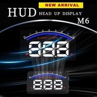 2017 Auto Head Up Display 3.5 pollice Parabrezza Proiettore OBD2 EUOBD Car Driving Dati Velocità di Visualizzazione RPM Temperatura Dell'acqua M6 HUD