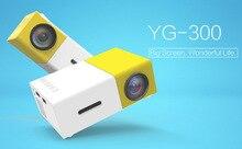 Подлинная YG300 Проектор YG 310 LED Портативный 500LM 3.5 мм Аудио 320×240 Pixel YG-300 HDMI USB Мини-Проектор Media Player