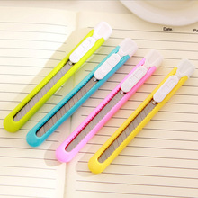 Cute Kawaii Plastic Paper Knife Lovely Candy Color Art Knife For Kids Student School Supplies Free Shipping 3201