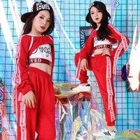Children's drum shelf costume New Jazz Costume hip hop suit winter Dance Costume 110 160cm height