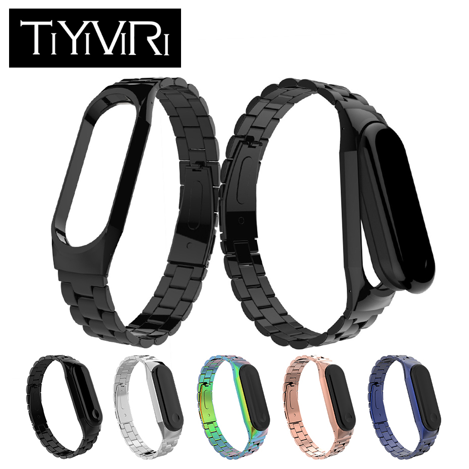 Mi Band 3 Strap Metal For Xiaomi Mi Band 3 Smart Band Accessories Stainless Steel Bracelet MiBand 3 Replace Wrist Strap MiBand3 new mi band 3 bracelet wrist strap mi band3 smart band strap miband3 wristband black metal for xiaomi mi band 3 strap