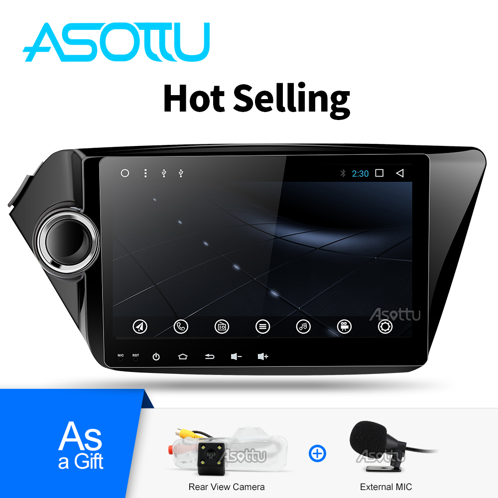 Asottu CK29060 IPS android car dvd player gps navigation for Kia k2 RIO