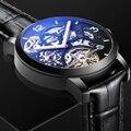 AILANG Top Merk Zwarte Retro Automatische Horloge Lichtgevende Casual Display Mens Mechanisch Skeleton Horloges Luxe Klok Mannen