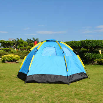 3-5 Person Automatic Big Camping Tent with 2 Door 4 Window Anti-UV Mongolian Yurt Tent Big Space Tourist Tent 305x264x145cm