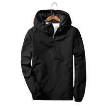 Bomber Jacket with Reflective Hood for Men