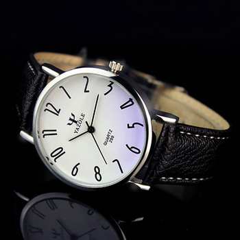 Men Casual Business Leather Strap Watch 2