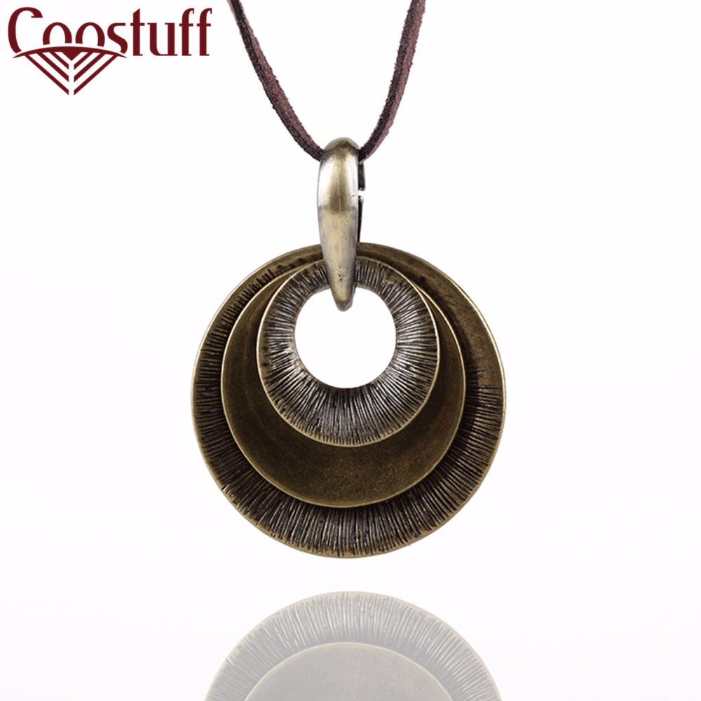 woman Necklace jewelry statement necklaces & pendants, cotton long Necklace Women circles pendant necklace for women collares
