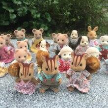 Geniune Sylvanian Families 10 шт. пушистые фигурки Набор собак/Squrriels/медведь/мышь/овца случайный без посылка