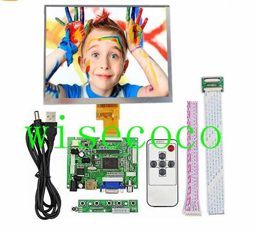 HDMI/VGA/AV Placa De Controle do Driver + 8