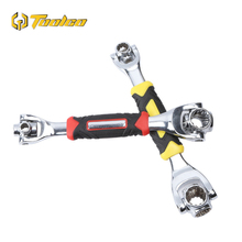 Toolgo New 48 In 1 Multi-function Tiger Wrench 360 Degrees 8-19mm Rotary Socket Hand Tools with 12 Teeth