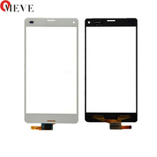4.6 dotykowy dla Sony Xperia Z3 Compact Z3 mini D5803 D5833 ekran dotykowy Digitizer soczewka czujnika przedni szklany panel