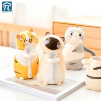 275ml Cartoon Cute Cat Model Ceramic Cup Milk Juice Lemon Mug Creative Water Coffee Home Office Drinkware Heat resistant Simple