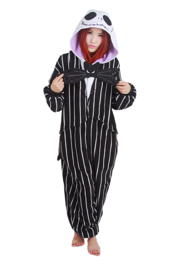 e54c5e9a23 Novelty Cosplay Anime Jack Skellington Skeleton Designer Costume Adult  Unisex Onesie Party Christmas Pajamas Plus Size S- XL